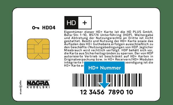 Beispielhafte Abbildung einer HD+ Karte.